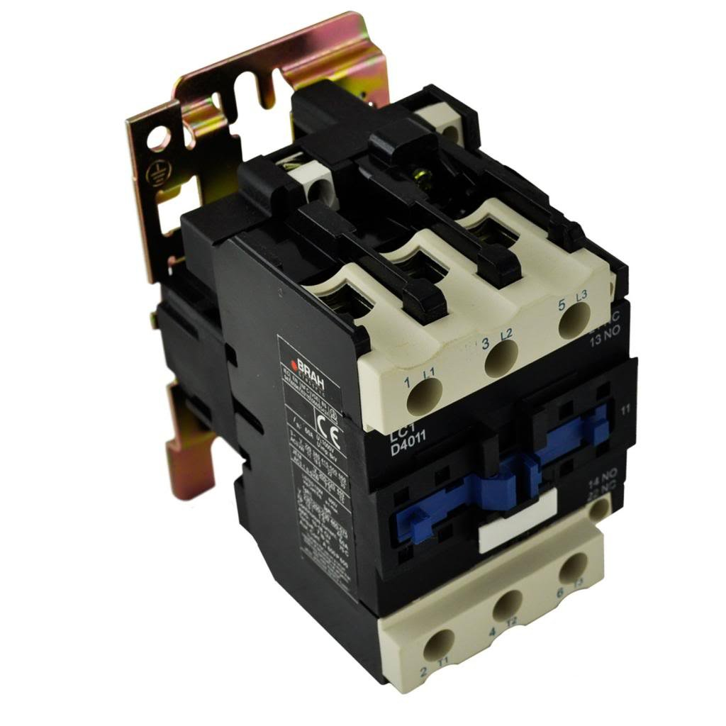 Direct Replacement for TELEMECANIQUE LC1-D40 AC Contactor LC1D40 LC1D4011-G6 120V Coil 3 Phase 3 Pole 40 Amp