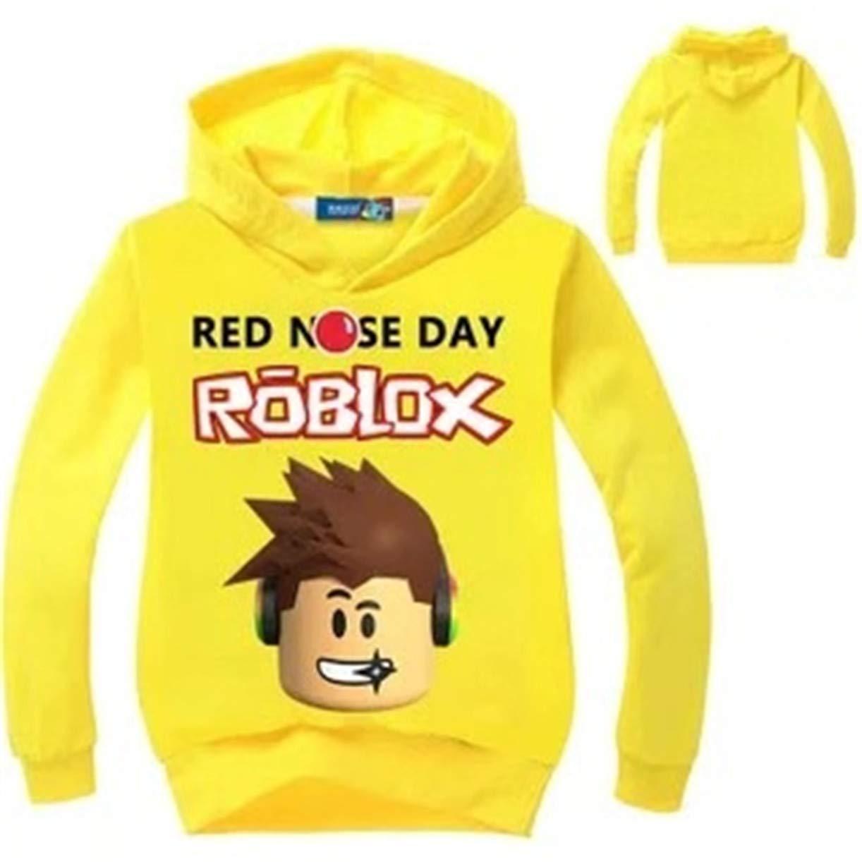 KK-Jim Little Kids Roblox Hoodies-Cartoon Printed Sweatshirt Hooded Tops for Boys Girls
