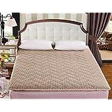 DHWJ Thickened tatami mattress,Single double student dormitory mattress,Sponge folding mat-B