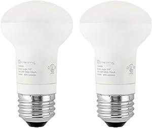 R16 LED Light Bulb, 7 Watt (50W Equivalent), Dimmable, 400 Lumens, 3000k Soft White, E26 Medium Base, Energy Star (2 Pack)