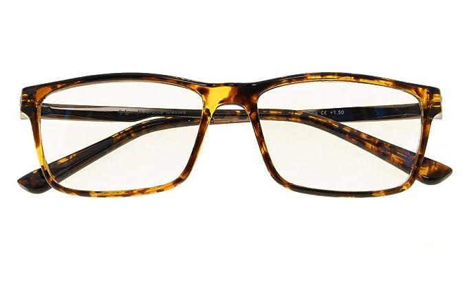 12fdc06b8f Noline Bifocal Progressive Multifocus Glasses 3 Levels Vision Reading  Glasses Amber Tinted Blue Light Blocking (