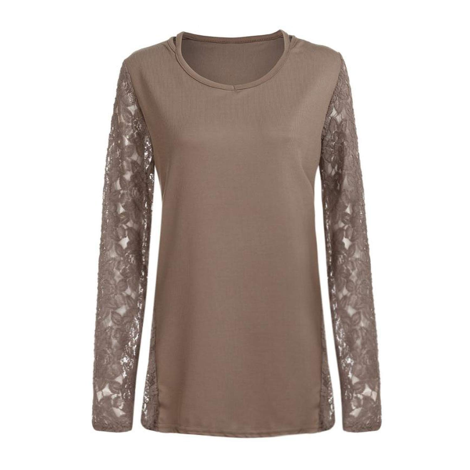 Amazon.com: amolly sweater Women Lace Sexy Long Casual Sleeve Crochet Tops Pullover Pull Femme 2018 Fashion,Khaki,S,United States: Clothing