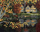 Plaid:Craft Autumn Reflections Paint by Number Kit 16''X20'', Multi