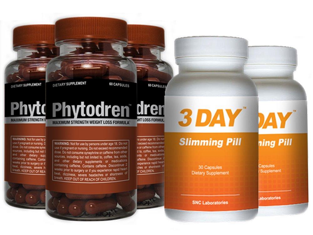 Phytodren 3 Bottles & 2 FREE 72hr Slimming- Hardcore Weight Loss - Burn Fat - Boost Energy Levels - Eat Less