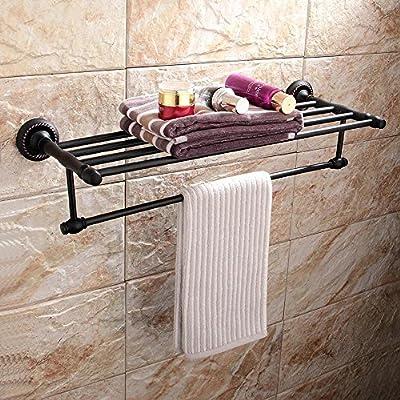 bbslt-porta toallas de latón, Porta Toallitas doble, color envejecido toallero, rastrelliere abbattibili