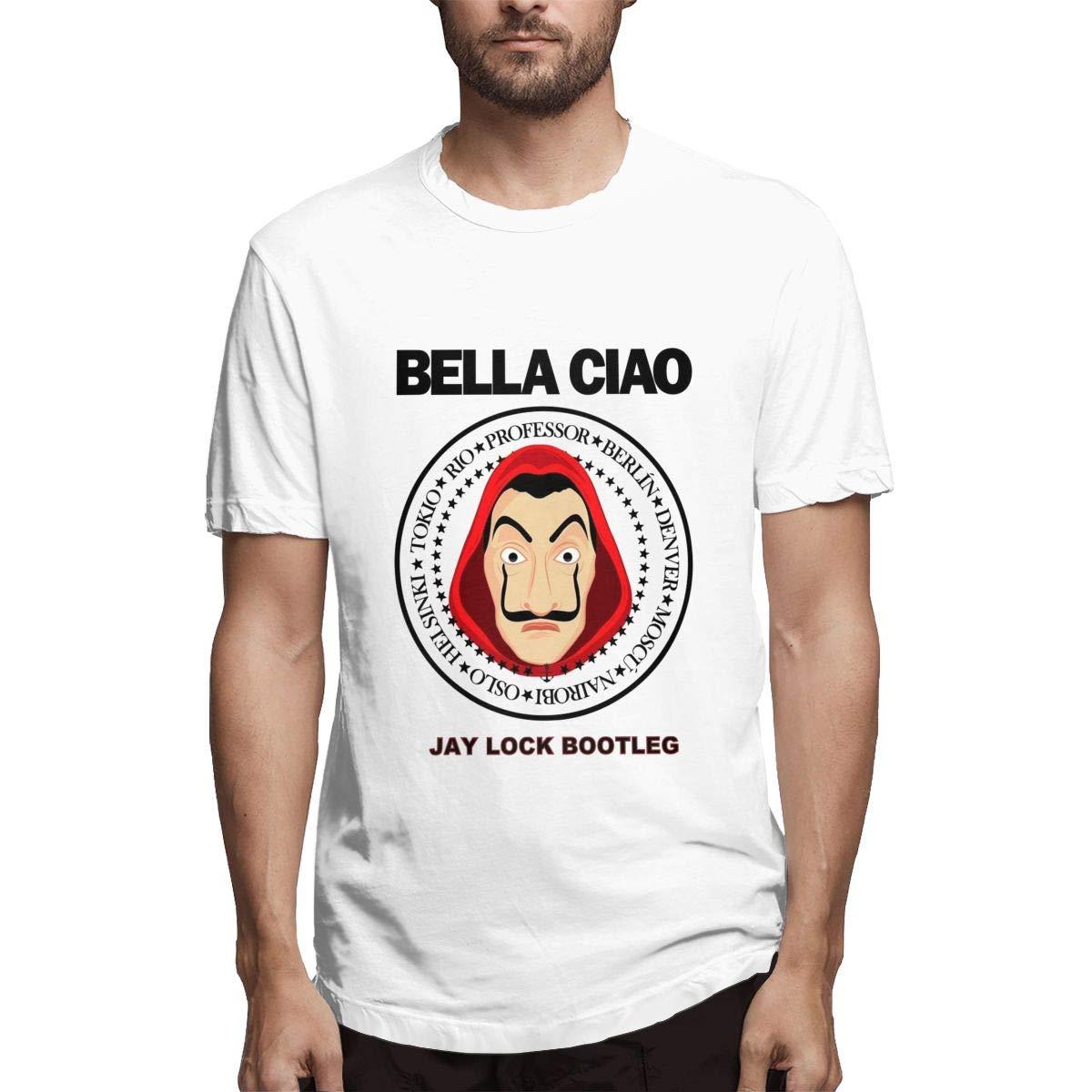 QINSHAONI Bella CIAO Teenagers Boy Retro Fashion Printed Letters Cartoon Pattern Comfortable Light T-Shirt T-Shirts 3XL