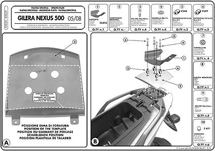 Givi E682m Topcase Trägerplatte Für Monolock Koffer Schwarz 40 Auto