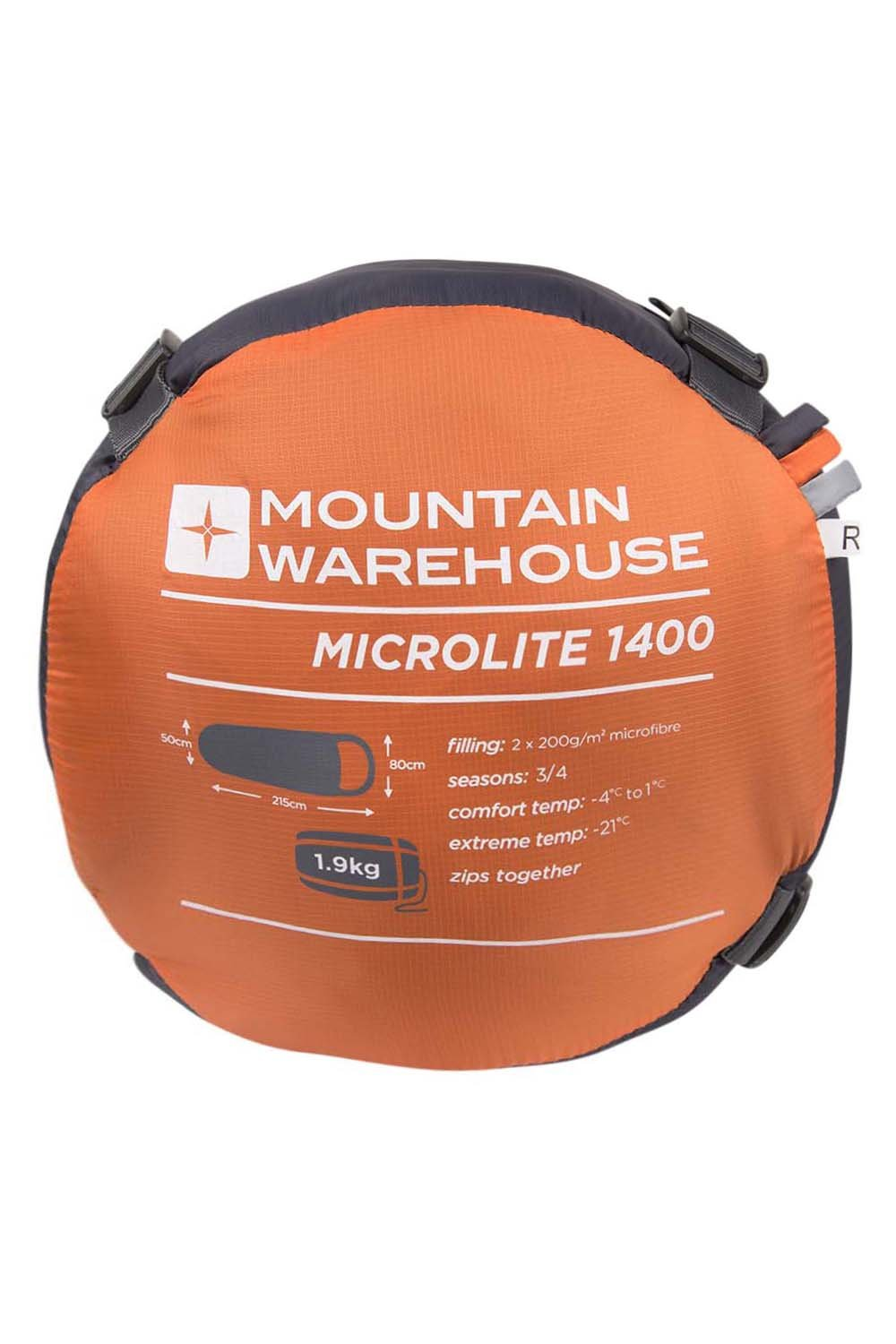 Mountain Warehouse Saco de Dormir Microlite 1400: Amazon.es: Deportes y aire libre