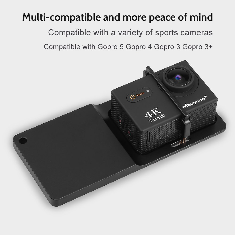 Mbuynow Placa de Montaje del interruptor Adaptador para Acción Cámara GoPro Hero 5 4 3+ YI, XiaoMi, SJCAM,DJI OSMO Y Estabilizador Móvil Feiyu Zhiyun Smooth Accesorios de Mano