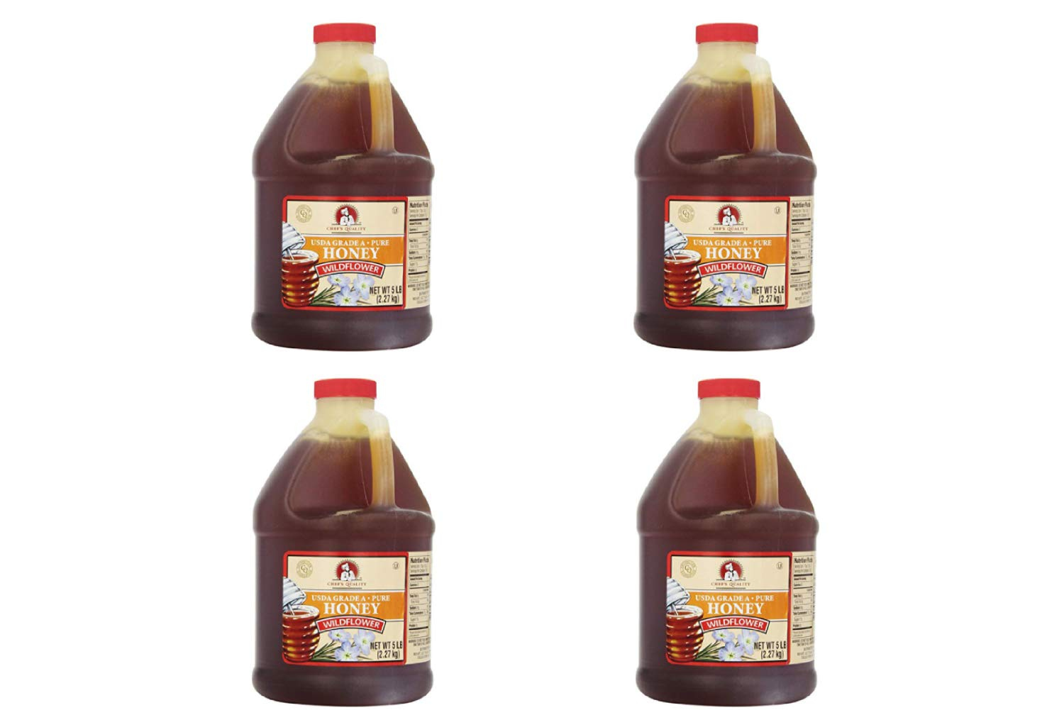 Chef's Quality: Wildflower Honey 80 Ounces (4 Pack)
