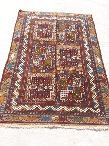 Handcraftigo Size:6 ft by 4 ft Handmade Rug Vintage Afghan Tribal Herati Carpet ()