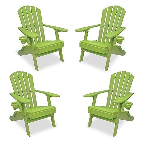 Amazon.com: ECCB - Juego de 4 sillas para exteriores con ...