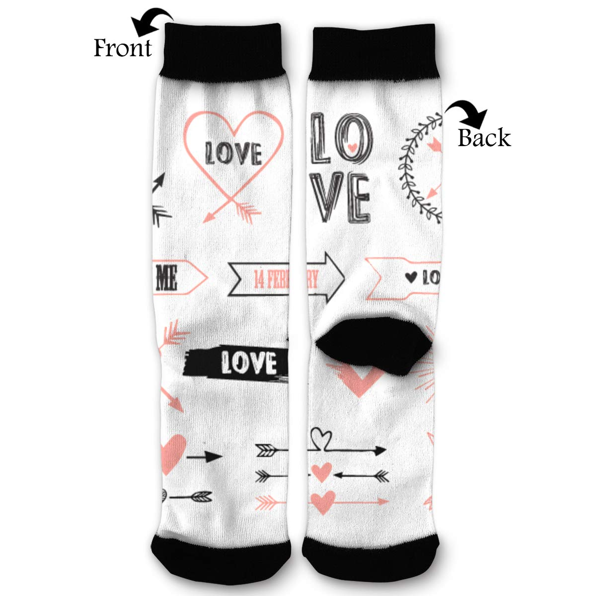 YISHOW Valentines Day Seamless Mode Funny Crew Socks