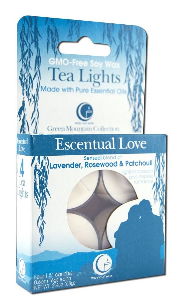 Way Out Wax Tealights Esscental Love, Pack of 2