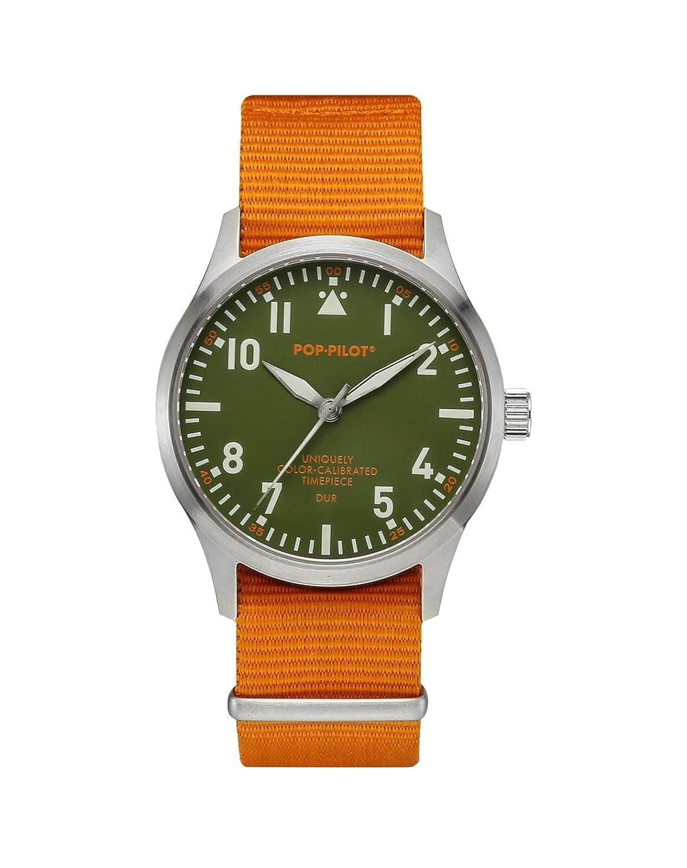 Pop-Pilot Unisex-Armbanduhr DUR Analog Quarz Nylon P4260362631021