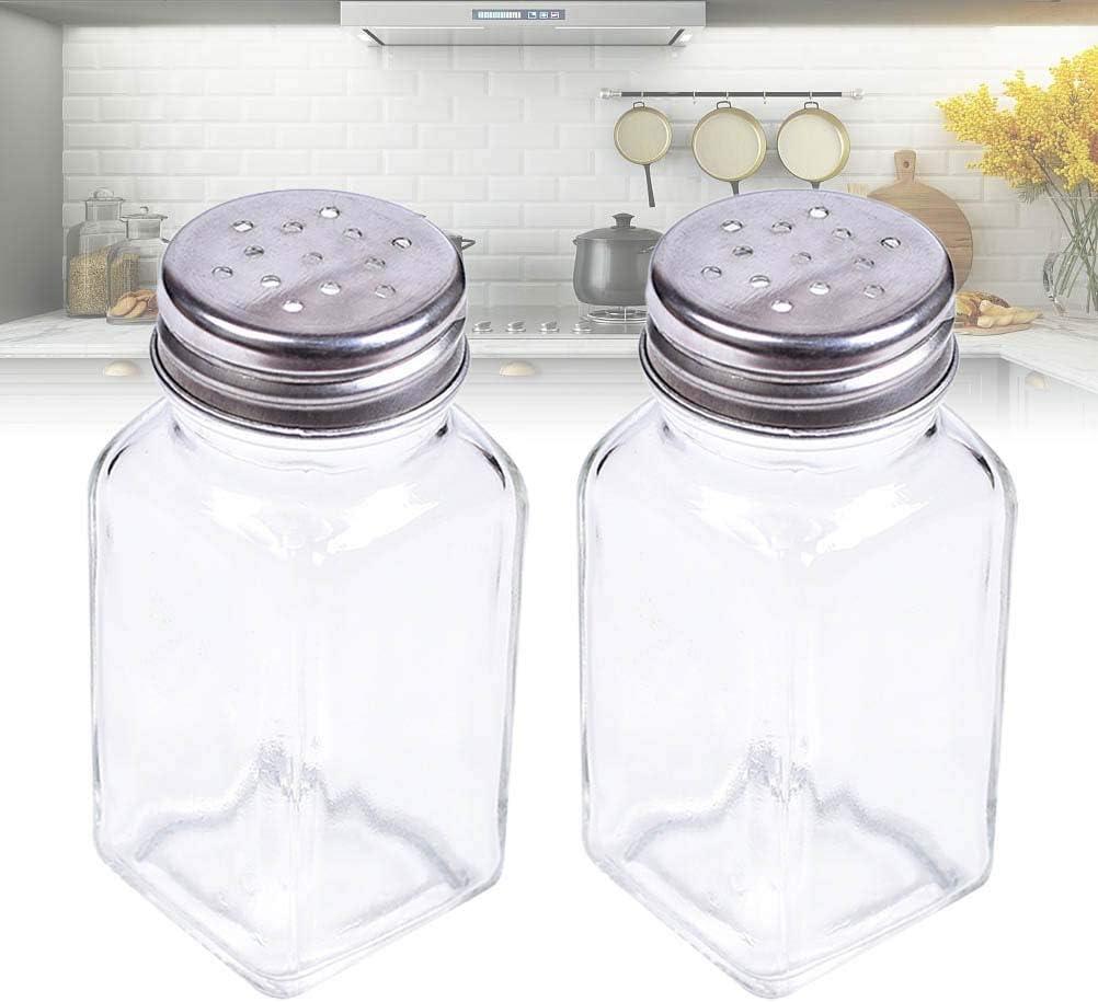 BESTONZON 10PCS Glass Spice Jar Bottle Seasoning Pot Ingredient Bottle Kitchen Cruet Kitchen Supplies
