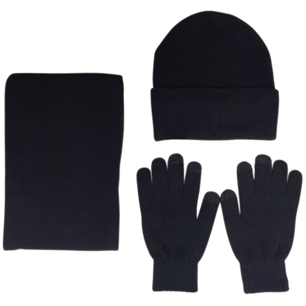 81a3d489d99 Top1  JOYEBUY Men 3 PCS Knitted Set Winter Warm Knit Hat + Scarf + Touch  Screen Gloves. Wholesale Price 12.99. Material  Made of thicker knitting  wool.