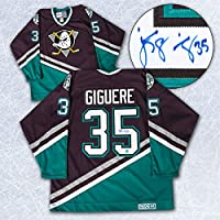 Jean-Sebastien Giguere Anaheim Mighty Ducks Autographed Retro CCM Hockey Jersey
