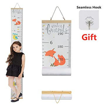Cute Giraffe Child Kid Height Growth Chart Wall Sticker Room Decor Decal Bedroom