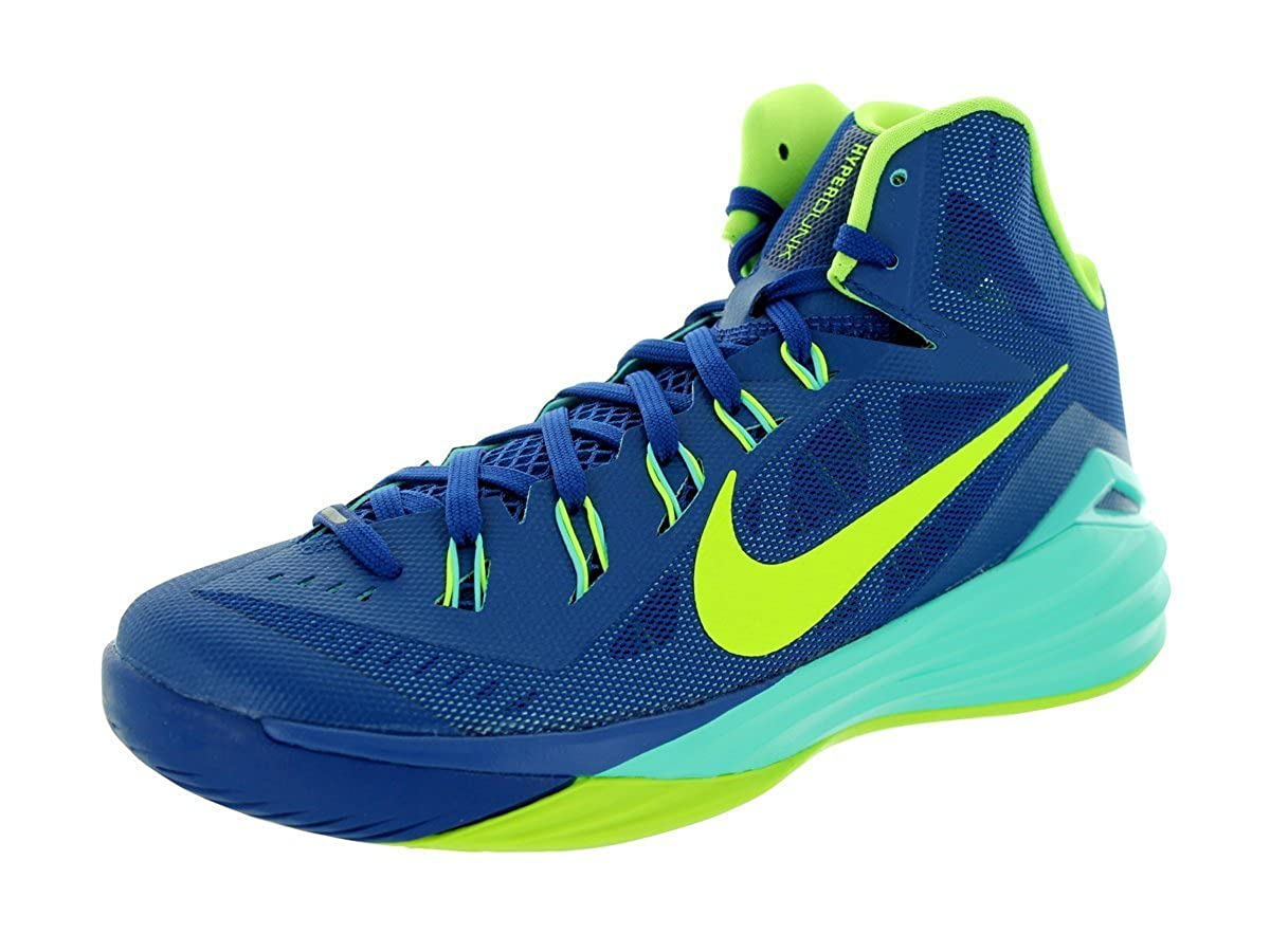 get cheap b7d6b c0ff3 Nike Men s Hyperdunk 2014 Gym Blue Volt Hyper Turq Basketball Shoe 10. 5 Men  US  Buy Online at Low Prices in India - Amazon.in