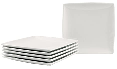 Square Melamine Dinner Plates with Flared Edges and Pan Scraper 6 Inches Set of  sc 1 st  Amazon.com & Amazon.com | Square Melamine Dinner Plates with Flared Edges and Pan ...