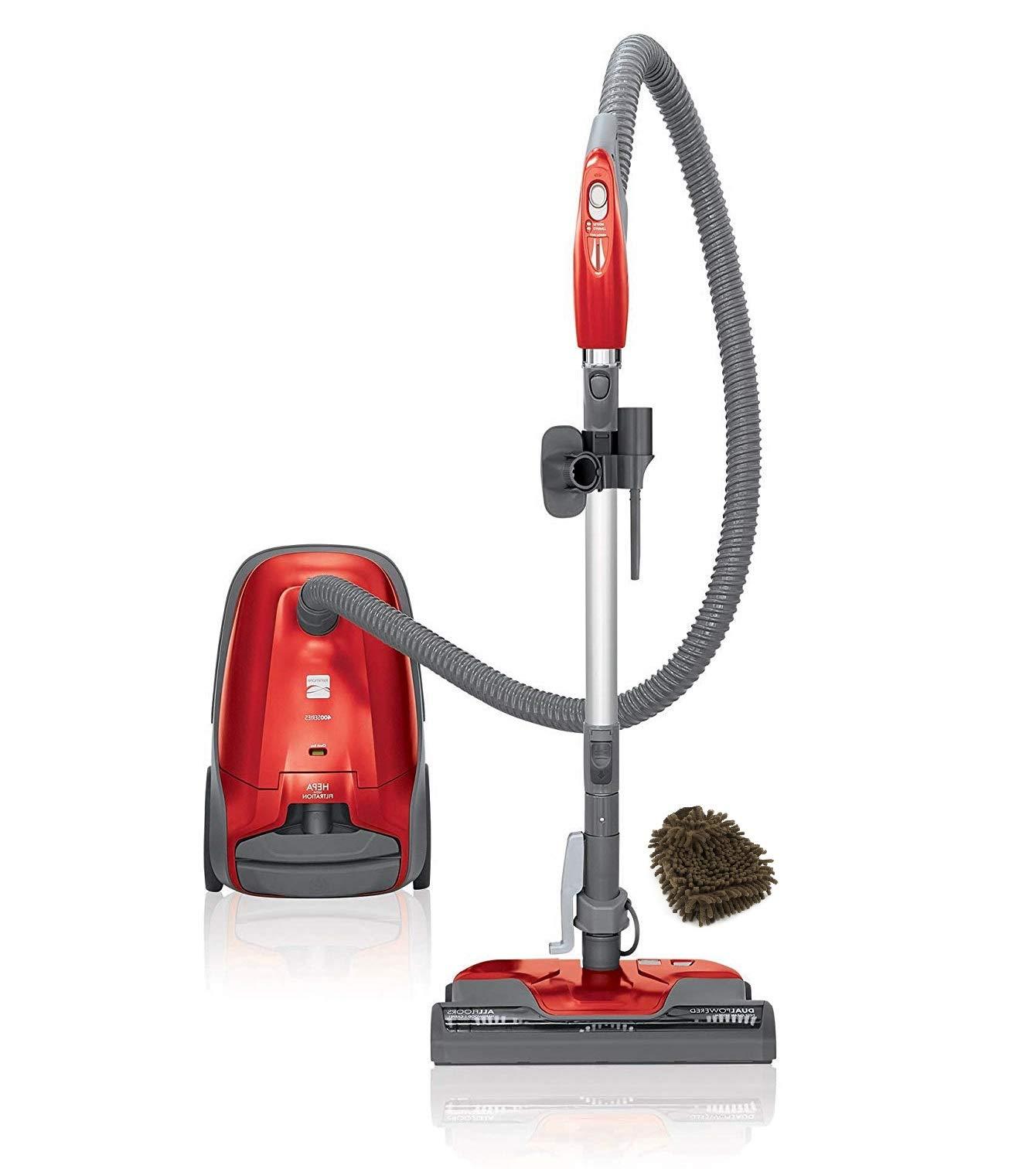 Kenmore 400 Series 81414 Vacuum Bagged Canister Cleaner, 02081414 HEPA, Red (Complete Set) w/Bonus: Premium Microfiber Cleaner Bundle
