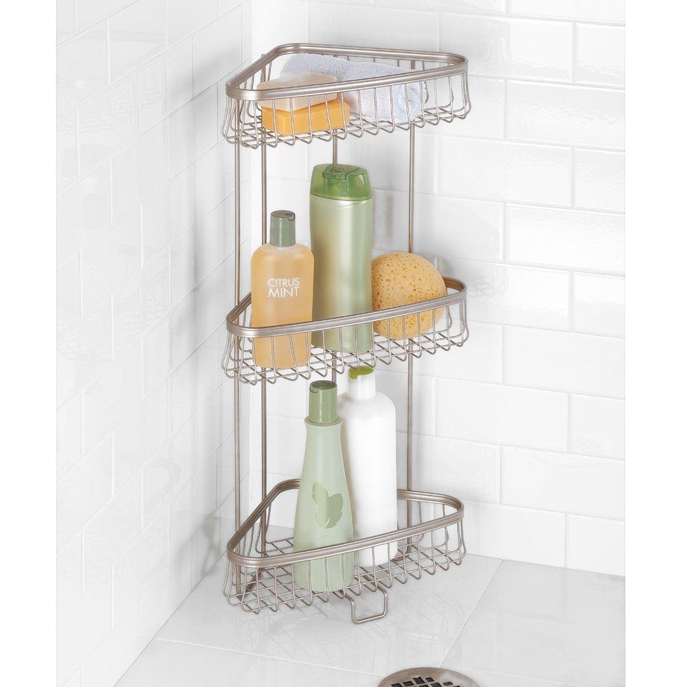 Amazon.com: InterDesign York Lyra Free Standing Bathroom or Shower ...