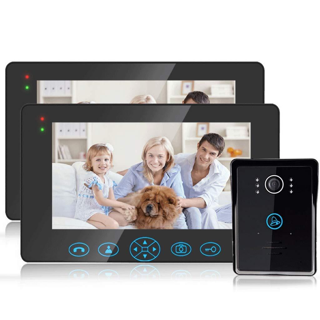 9 Inch Home color Wireless Video Intercom Doorbell Tamper Alarm Camera Video Infrared Night Vision Intelligent Remote Unlock (color   Black-B)