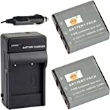 DSTE® アクセサリーキット Samsung SLB-1237 互換 カメラ バッテリー 2個+充電器キット対応機種 Digimax L55W L85 Epson L500V Sigma DP1 DP2 DP1S DP2S