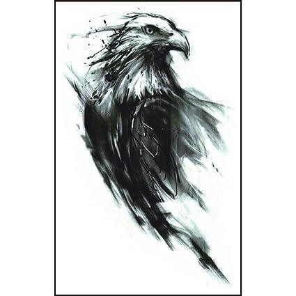 Tatuajes temporales de Sketch Eagle Yesmile ❤ impermeable águila pluma tragar tatuajes temporales 3D mariposa