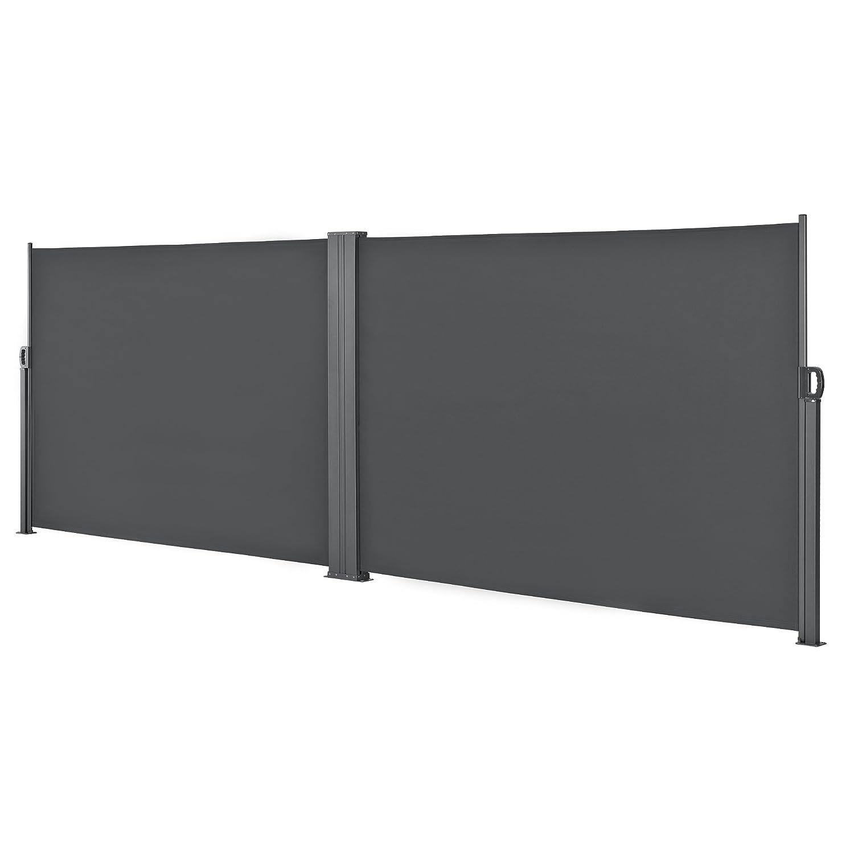 Anthrazit 180x300 Seitenmarkise Markise Sichtschutz Balkon