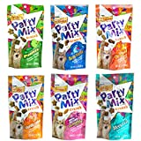 Party Mix Crunch Friskies Variety Pack (6 Fun Flavors 2.1 oz Each) - Picnic, Beachside, Cheezy Craze, Original, California Dreamin', and Meow Luau