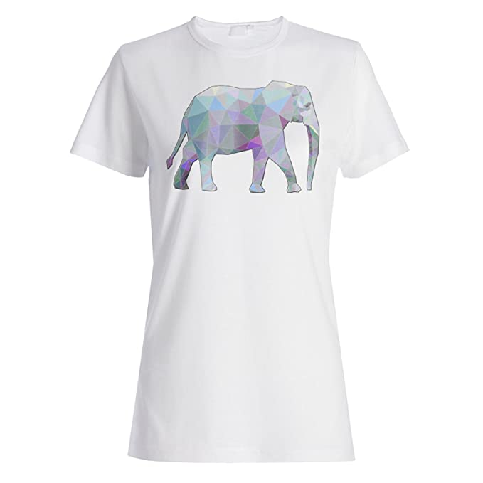 bc0325973c8a84 Polygonal Elephant Triangle Origami Ladies T-Shirt Tee g345f at ...