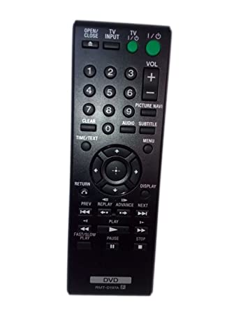 replaced remote control compatible for sony dvp sr210p rmt d197a rh amazon co uk Sony DVP Sr510h Remote Sony DVPSR210P
