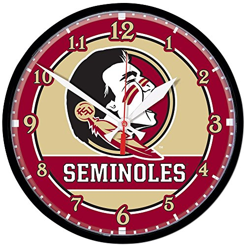Florida State Seminoles Wall Clock (NCAA Florida State University Round Wall Clock, 12.75