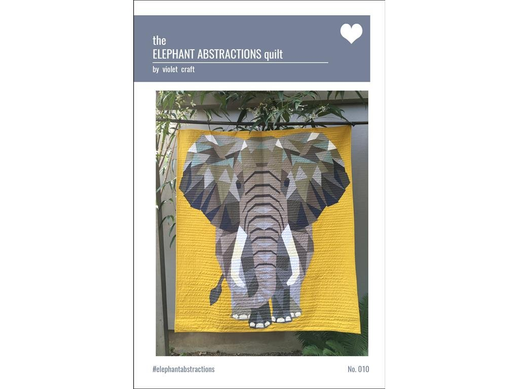 Violet Craft Abstractns Elephant Abstractions Quilt Ptrn by Violet Craft