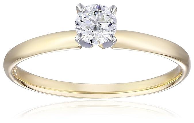 带IGI证书 Amazon Collection 14k金 0.5克拉 圆形钻石四爪戒指 6折$1107.04 海淘转运到手约¥7730