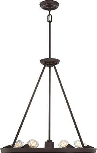 Quoizel UPTR5007WT Uptown Theater Row Chandelier, 6-Light 600 Total Watts, Western Bronze