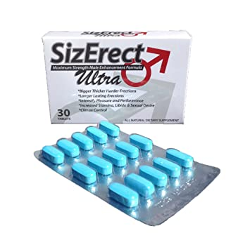 SizErect Ultra - Maximum Strength Male Sexual Enhancement Pills - New & Improved Fast Acting,