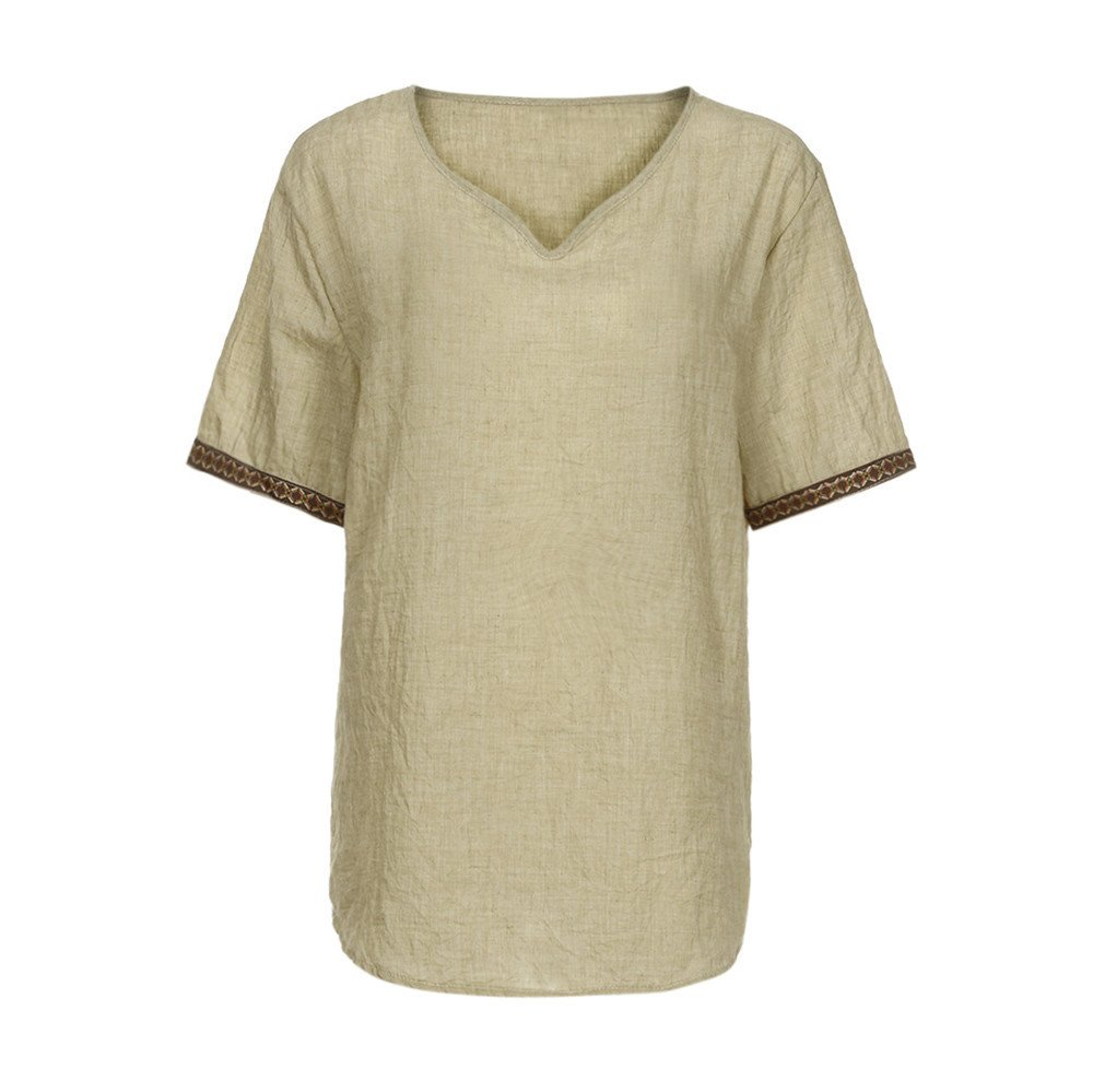 Men's Tech Short Sleeve T-Shirt Beige by Donci T Shirt (Image #3)