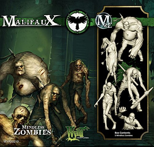 Wyrd Miniatures Malifaux Resurrectionists Mindless Zombies Model Kit (5 Pack)