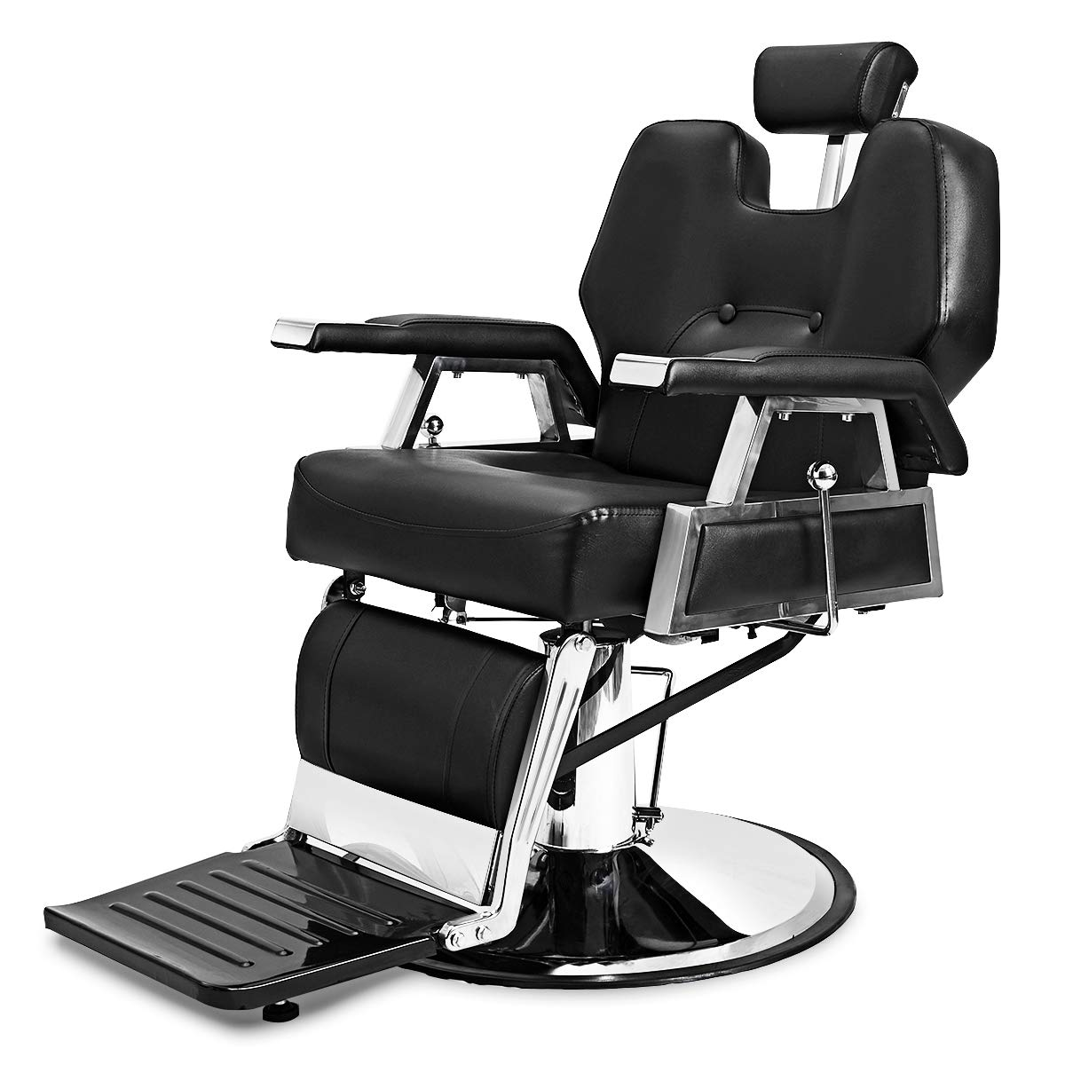 Giantex Hydraulic Recliner Barber Chair for Hair Stylist, All Purpose Salon Spa Recliner Heavy Duty with 360 Swivel Deluxe for Shampoo Facial Massage, Reclining Tattoo Salon Chairs