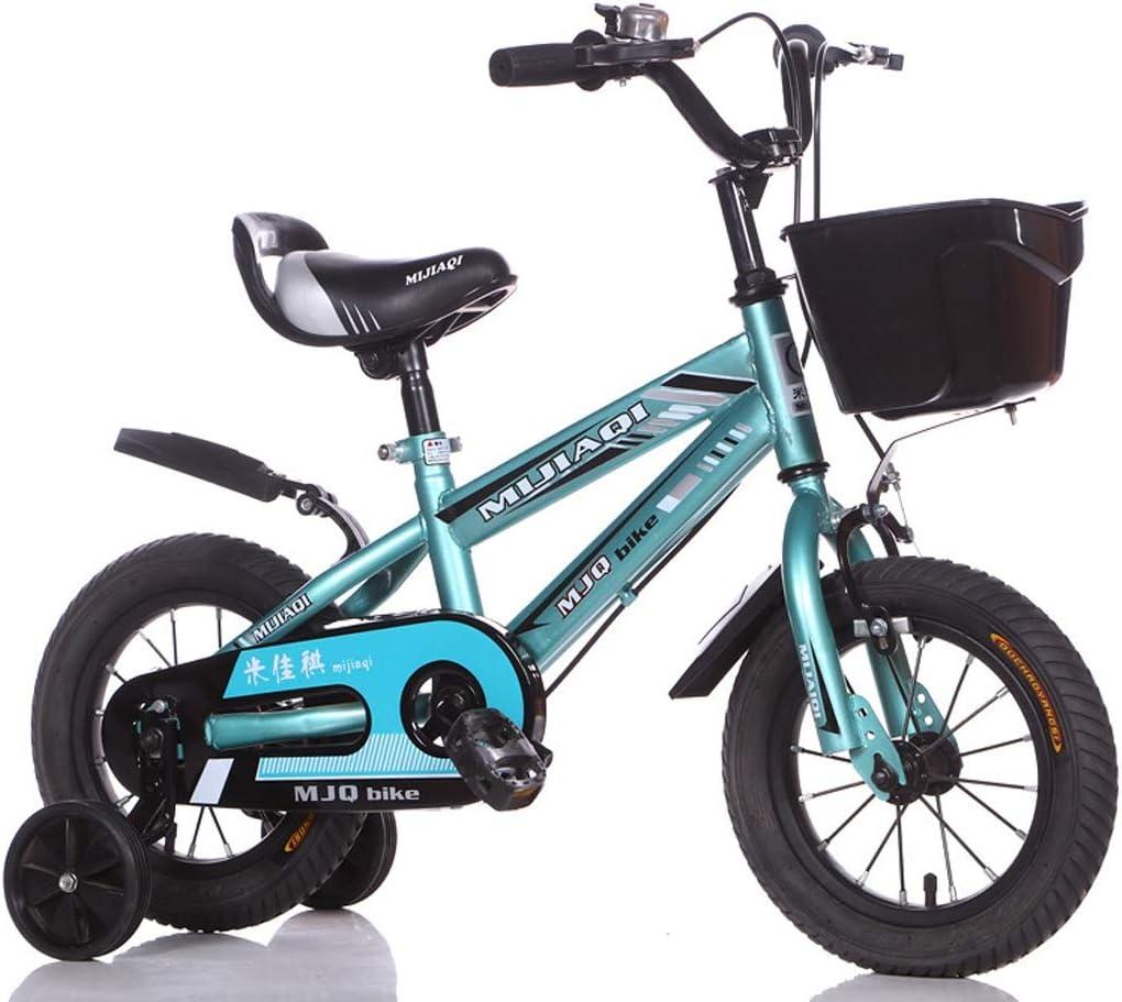 Mysida Kids' Bikes Bicicletas de montaña para niños, niñas y niñas de Alto Grado, con estabilizador y Cesta, para 2-9 años