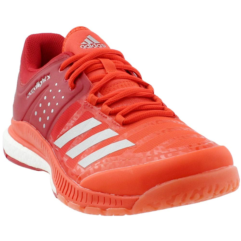 adidas Men's Crazyflight X Volleyball Shoes, Scarlet/Metallic Silver/Energy, (9 M US) by adidas