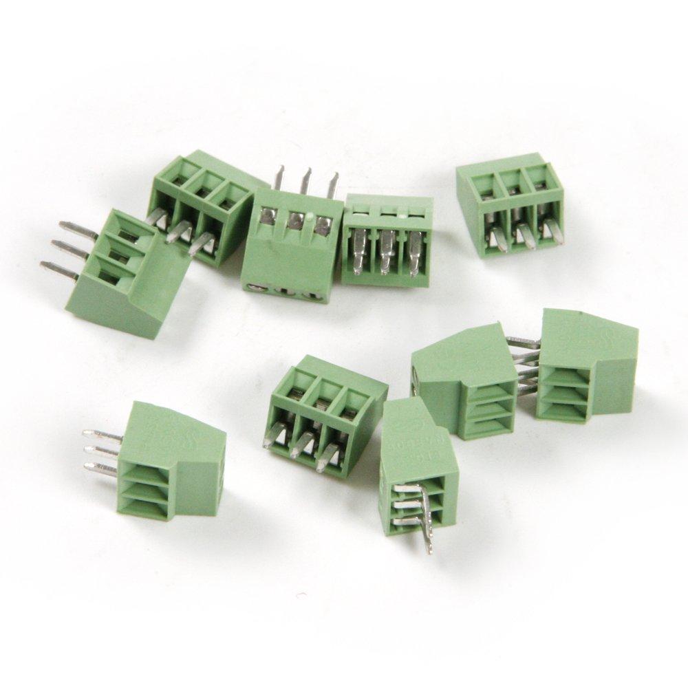 2,54/mm UCTOP STORE connettore terminale PCB 2 poli con morsettiera a vite 30 pezzi