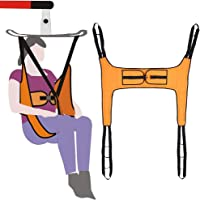 Toileting Sling Patient Lifter Medical Lift Equipment Bariatric Handicap Lift Commode Sling Medical Transfer Belt with Four Point Support Full Body Sling