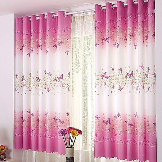 Emmala Dimensiones 200 X 100 Cm Flores De Mariposa Cortinas ...
