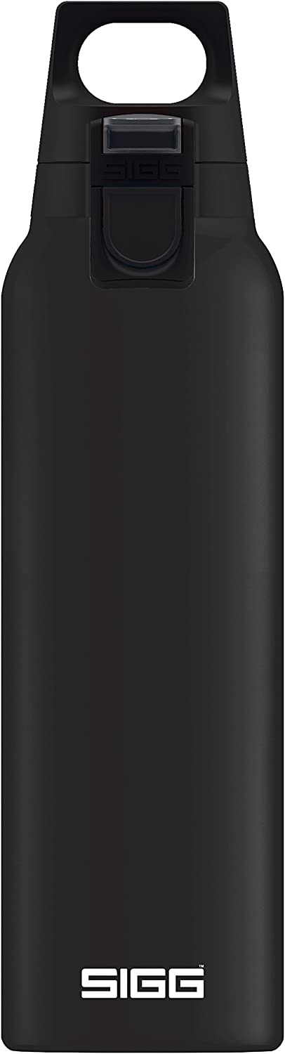 SIGG Thermo Flask Hot & Cold ONE Black (0.5 L), Vacuum Insulated Stainless Steel, Coffee Thermos Cup, Removable Tea Infuser Bottle, Keeps Hot & Cold for Hours, Leakproof