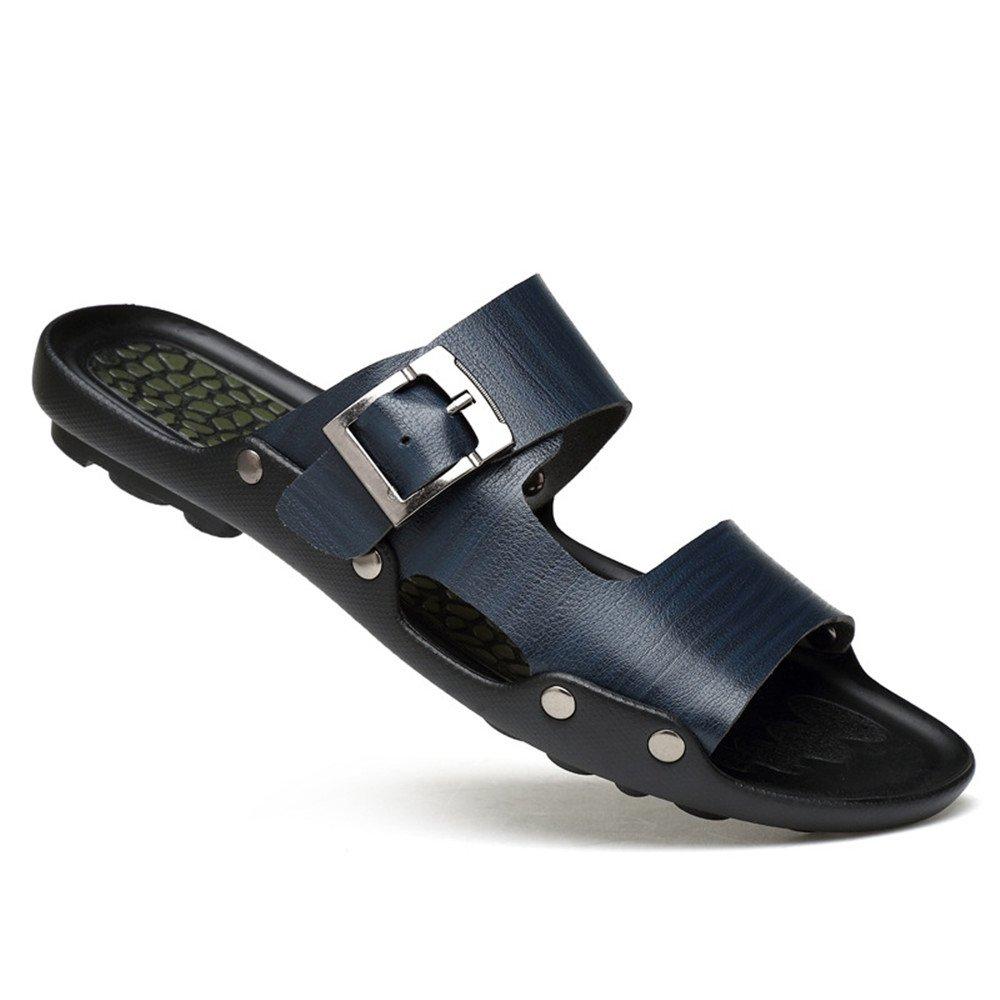 Zapatillas de verano para hombres Zapatillas de playa ocasionales antideslizantes lavables Adecuado para actividades al aire libre y excursiones y natación ( Color : Blue , Size : 38 2/3 EU ) 38 2/3 EU|Blue