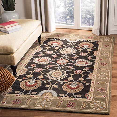 Safavieh Anatolia Collection AN561C Handmade Traditional Oriental Black and Green Wool Area Rug (5' x 8') ()